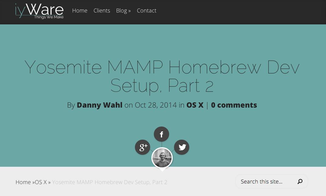 MAMP (OSX, Apache, MySQL, and Python) installation in OSX Yosemite